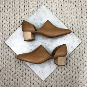 Madewell Cutout Wooden Block Heel Ankle Boots
